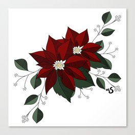 Nochebuena Poinsettia Canvas Print
