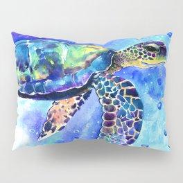 Sea Turtle, Underwater Scene Pillow Sham