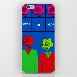 Portrait of Gilbert and George, illustration, pop culture iPhone Skin