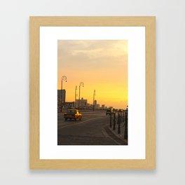 Sunset in La Habana Framed Art Print