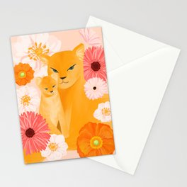 Mother Lion and cub II Stationery Cards