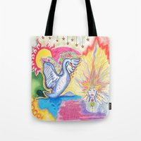 swan Tote Bags featuring swan  by Spirit Candy