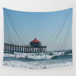 Huntington Beach Life Wall Tapestry
