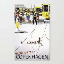 Vintage travel poster - Copenhagen Canvas Print