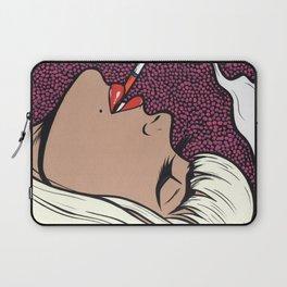 Platinum Blonde Smoking Comic Girl Laptop Sleeve