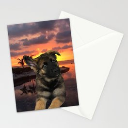Loki German Shepherd Stationery Cards