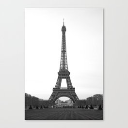 Eiffel Tower in black and white Canvas Print