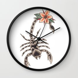 Scorpion Lies Wall Clock