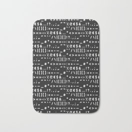 Typography Special Characters Pattern #2 Bath Mat