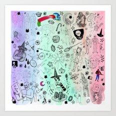 Shower with Brett N Frank Art Print