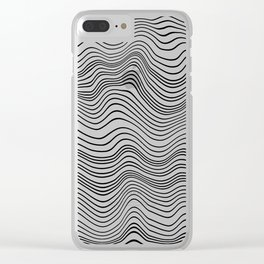 Black and White Waves Clear iPhone Case