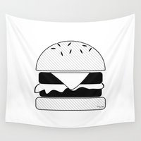burger Wall Tapestries featuring Burger  by Keep It Simple
