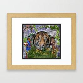A wildlife, Bengal-tiger Framed Art Print
