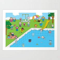 Pool XL Art Print