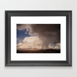 Storm Over Sedona Framed Art Print