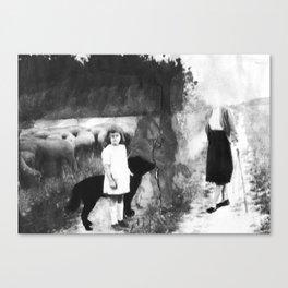 La petite bergère Canvas Print