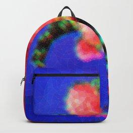 Peonies in Green Vase Backpack