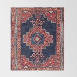 Afshar Kerman South Persian Rug Print Throw Blanket