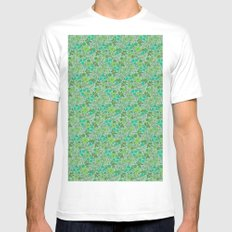 Floral2 MEDIUM White Mens Fitted Tee