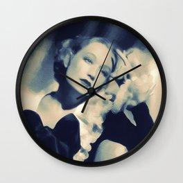 Miriam Hopkins, Hollywood Legend Wall Clock