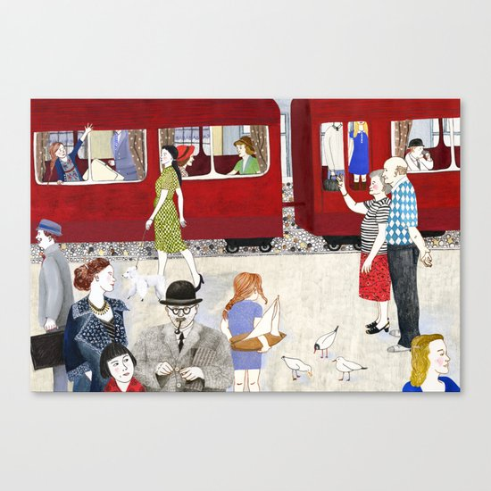 At the station Canvas Print