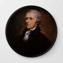 Alexander Hamilton Portrait Wall Clock