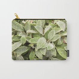 Lambs ear after rain Carry-All Pouch