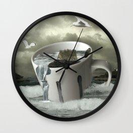 Stormy Cornwall Feb 2014 Wall Clock