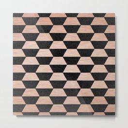 Hexagon Copper & Black Metal Print