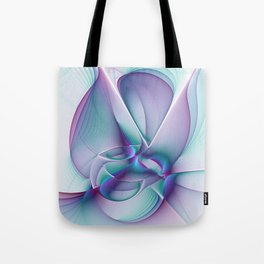 A Colorful Beauty, Abstract Fractal Art Tote Bag