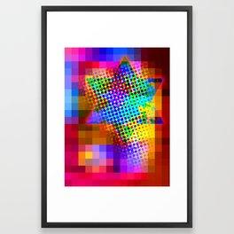 Modern Judaica- Saturated Star Framed Art Print