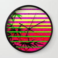 bamboo Wall Clocks featuring Bamboo by Mr & Mrs Quirynen