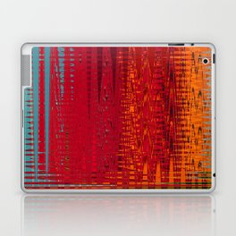 Warm red & turquoise Floor Pattern Art Laptop & iPad Skin