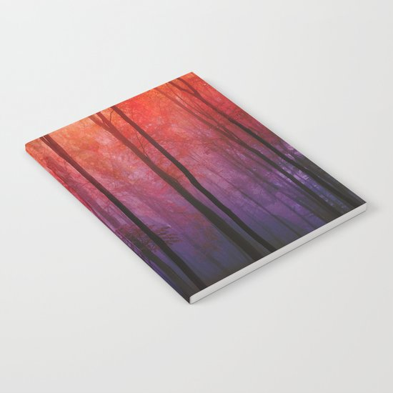 Whispering Woods, Colorful Landscape Art Notebook