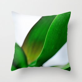 Orchid leaves Throw Pillow