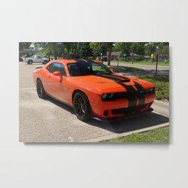Hugger Orange Challenger SRT Hellcat color photograph / photography / Greg Gjerdingen Metal Print