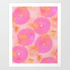 PINK FRUITS Art Print