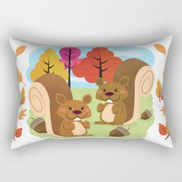 Let The Acorns Fall Rectangular Pillow