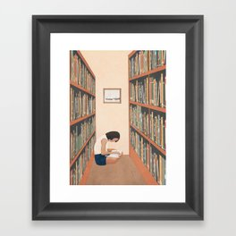 Getting Lost in a Book Framed Art Print