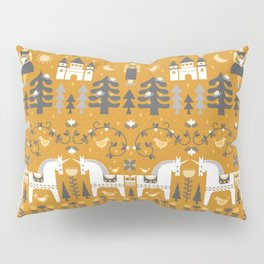 Yellow + Gray Fairy Tale Pillow Sham