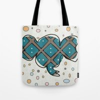 ellie goulding Tote Bags featuring Ellie by Bunhugger Design