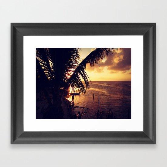 Sunset Dip Framed Art Print