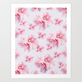Pink Azalea Flower Dream #1 #floral #pattern #decor #art #society6 Art Print