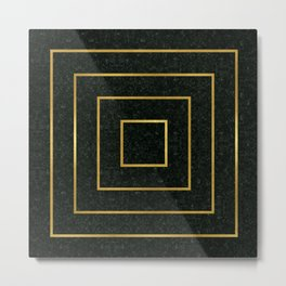 Golden Squares Metal Print