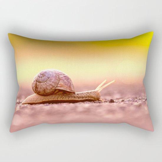 Snail shell Design Rectangular Pillow