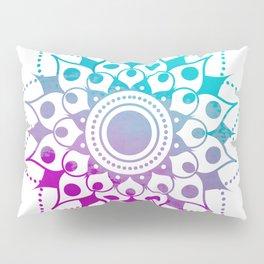 Mandala #2 (Purple Pink Turquiose) Pillow Sham