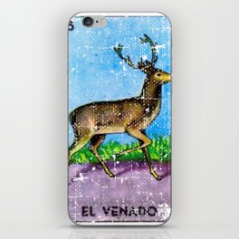 El Venado Mexican Loteria Bingo Card iPhone Skin