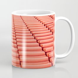 Overlapping rows of red tiles roof Coffee Mug