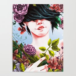 Flowery Mind Poster