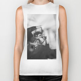 Woman and man, dancers, black and white Biker Tank